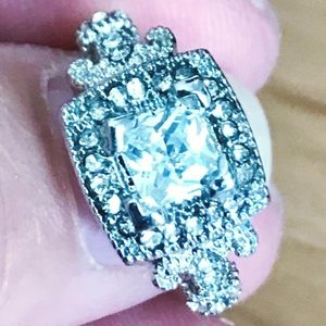 Jewelry - Antique Style White Sapphire 925 SS